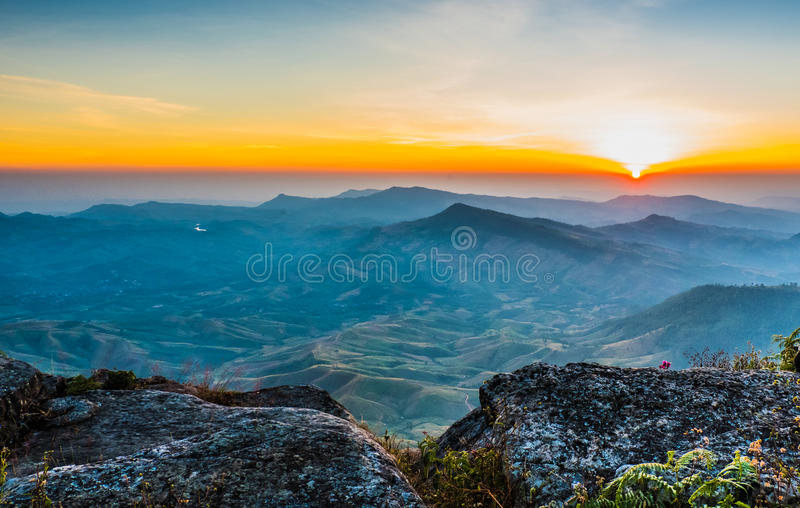 Beautiful sun rise royalty free stock photography