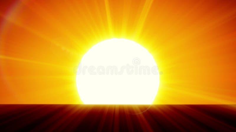 Beautiful Sun Rising Over Horizon 3d Animation Of The Sunrise Hd 1080 Stock Footage Video Of Black Horizon 77488594