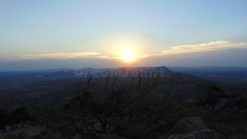 The view from Mount Scott royalty free stock photos