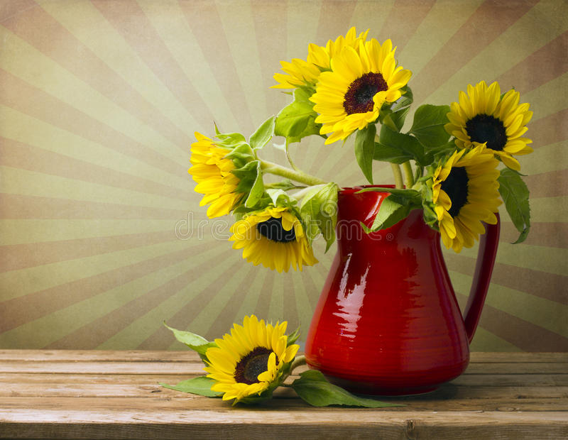 Beautiful Sunflower Bouquet Royalty Free Stock Photos