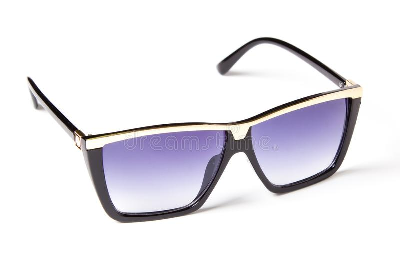 Beautiful sunglasses with colored glass royalty free stock image
