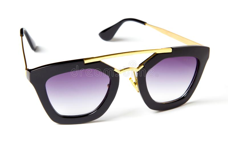 Beautiful sunglasses with colored glass stock images