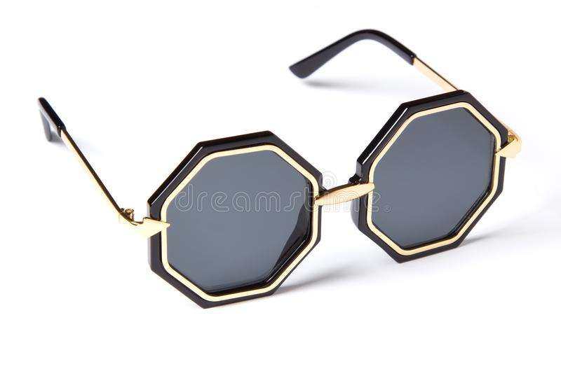 Beautiful sunglasses with colored glass royalty free stock photo