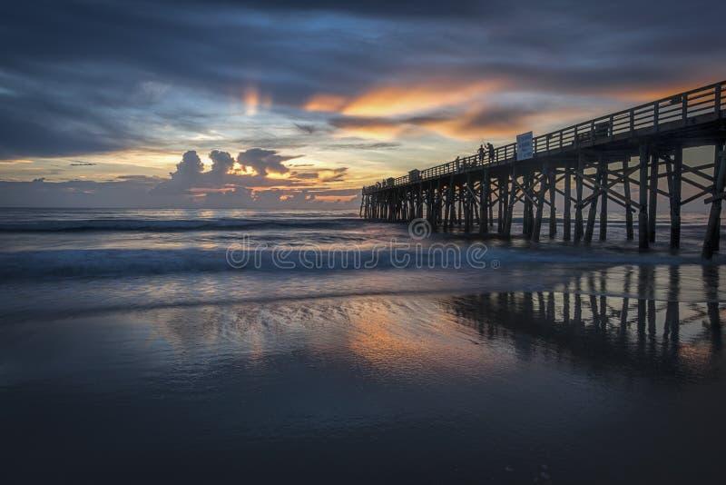 Beautiful sunrise along Florida coast. stock photo