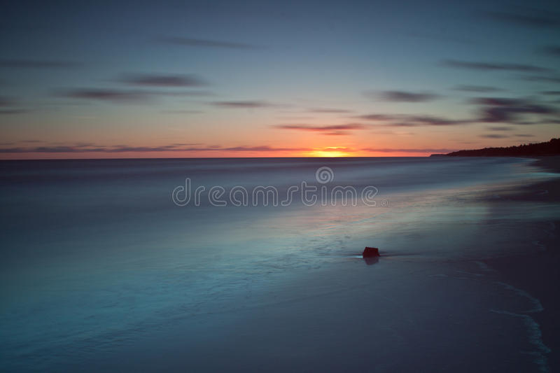 Download Beautiful Sunrise At Baltic Sea. Sunrise Over The Sea. Chalupy, Poland. Stock Photo - Image: 31761266