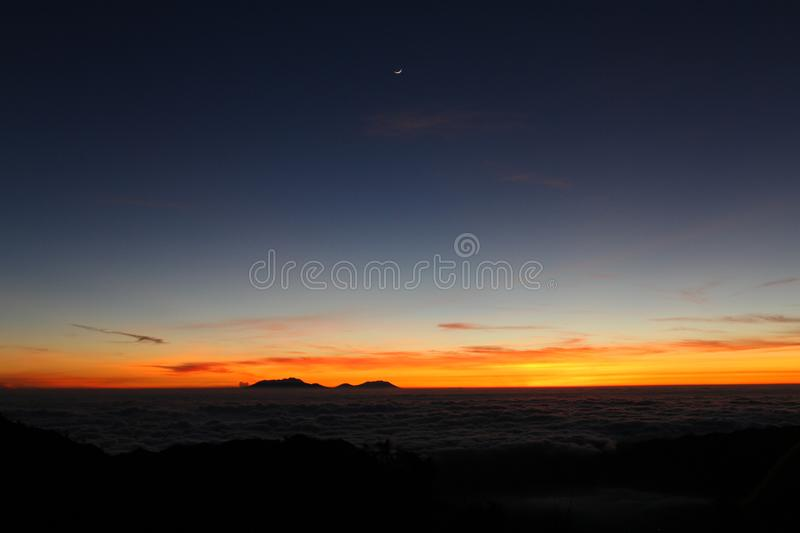 Beautiful Sunrise at Bromo Tengger Semeru stock photo