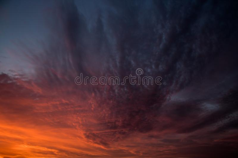 Coulds. Beautiful Sunrise coulds stock photo