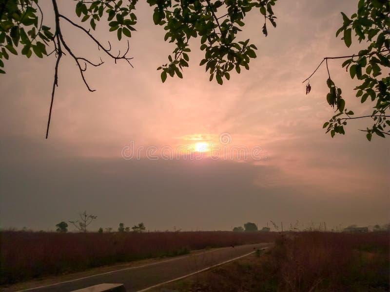 Sunrise, landscape royalty free stock photography