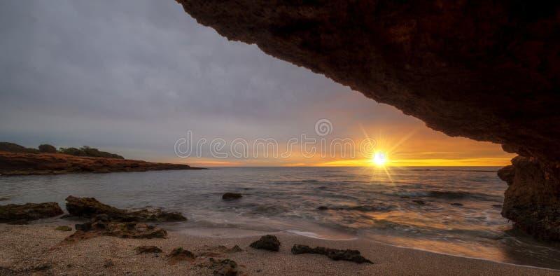 A beautiful sunrise in Oropesa, Costa Azahar stock image