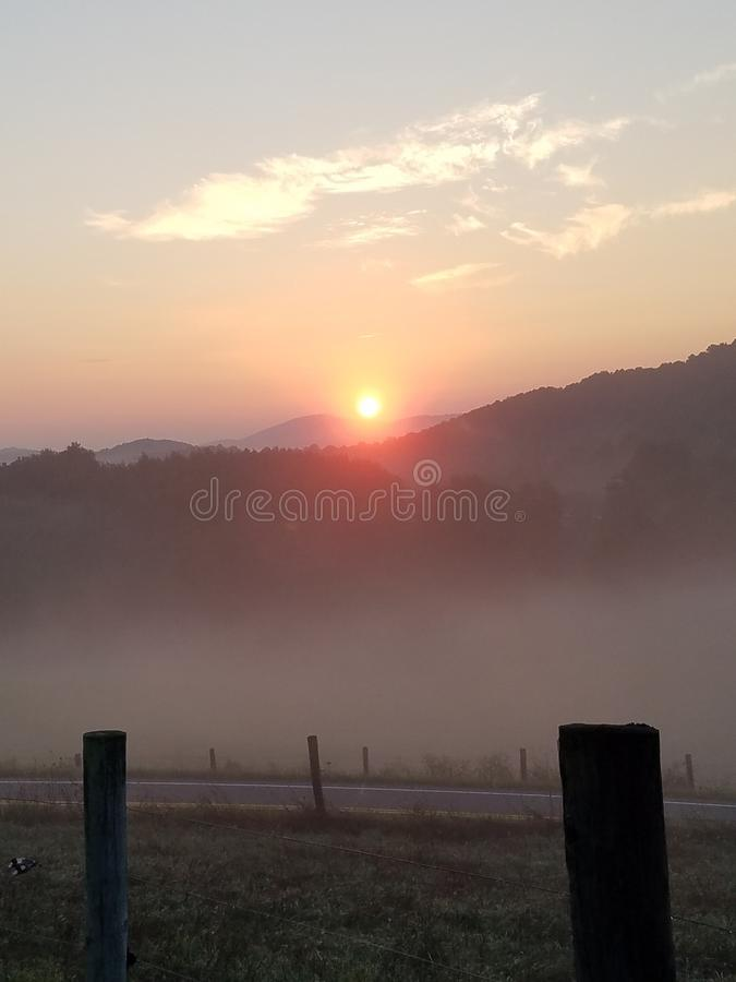 Sun rise in the Countryside royalty free stock photo