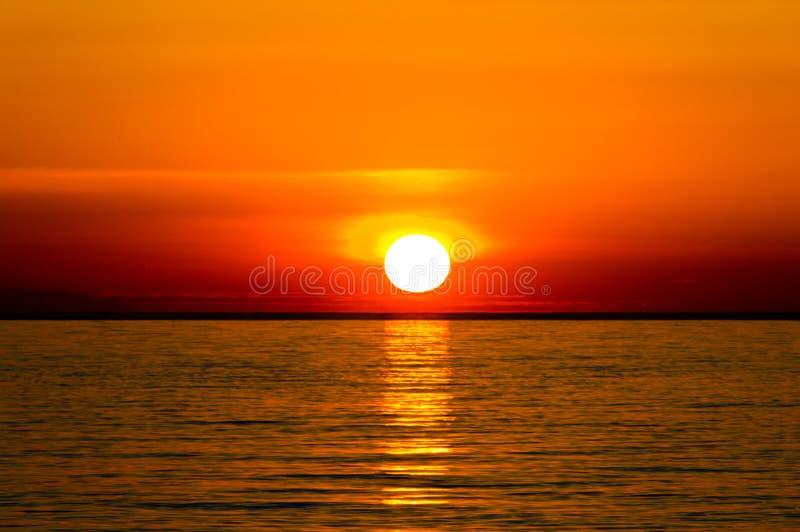 Beautiful sunrise over the Mediterranean Sea. royalty free stock image