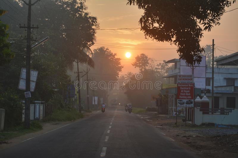Sun rise royalty free stock images