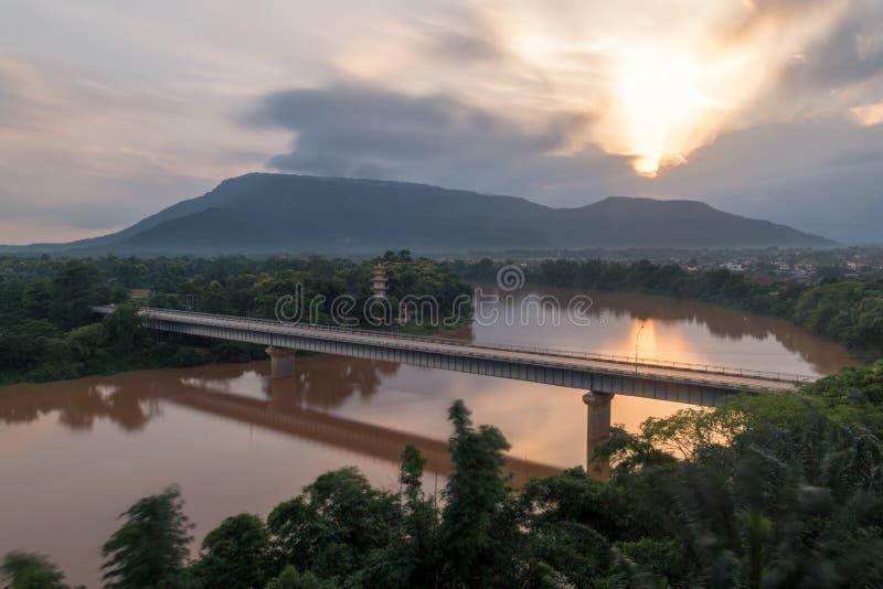Beautiful sunrise,This photo was taken on hotels in lao. Beautiful sunrise,This photo was taken on hotels in lao,Mekong in lao stock photos