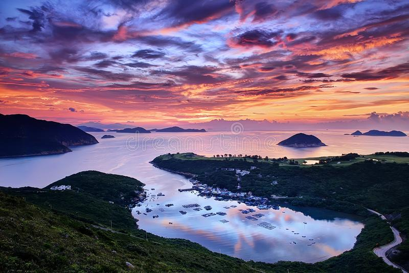 Download Beautiful sunrise stock photo. Image of excellent, land - 34081162