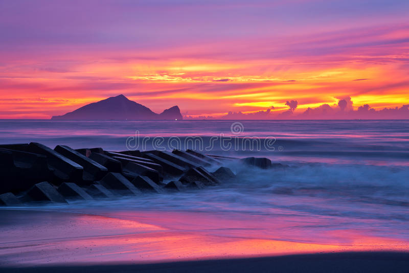 Beautiful sunrise in Taiwan royalty free stock images