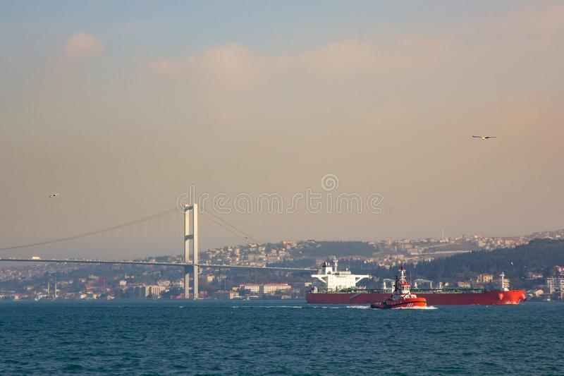 Istanbul the capital of Turkey.  royalty free stock photography