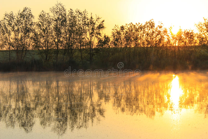 Beautiful sunrise view royalty free stock images