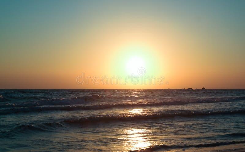 Beautiful sunrise in Zakynthos Island royalty free stock images
