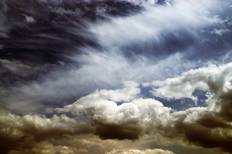 Beautiful sunset сlouds royalty free stock images