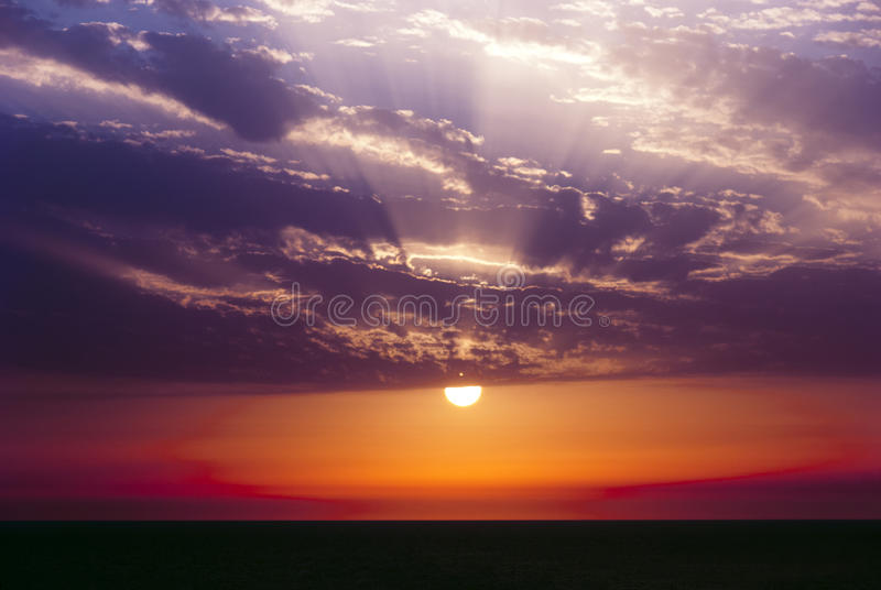 Download Beautiful sunset stock image. Image of colorful, beams - 25985563