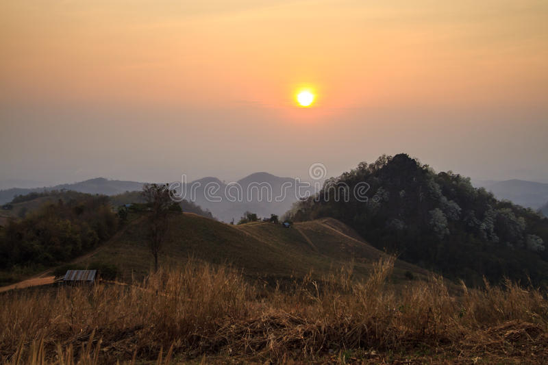 Download Beautiful sunset stock image. Image of cool, upcountry - 29521317