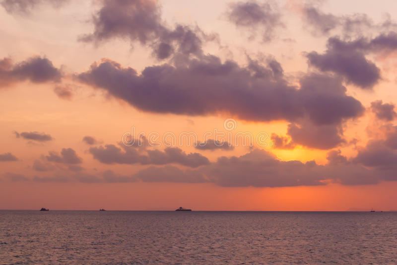 Download Beautiful Sunset Above The Sea Stock Photo - Image: 29604850