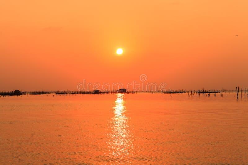 Sunset above the sea. Beautiful sunset above the sea stock photos