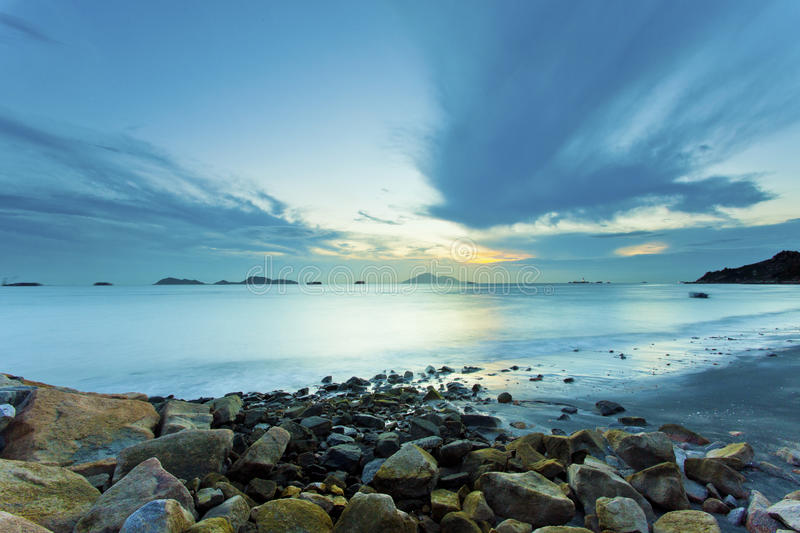 Download Beautiful Sunset Above The Sea Along The Coast Stock Image - Image: 35094935
