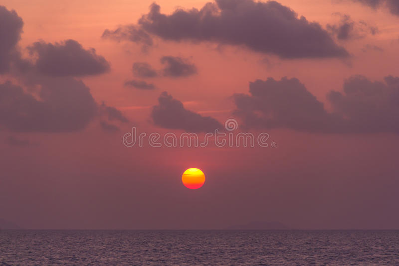 Download Beautiful Sunset Above The Sea Stock Photo - Image: 30574470