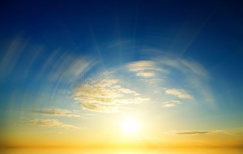 Beautiful Sunset Above The Sea. Stock Photos