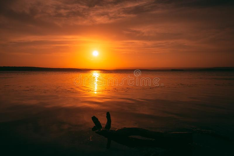 Glorious sunset stock image