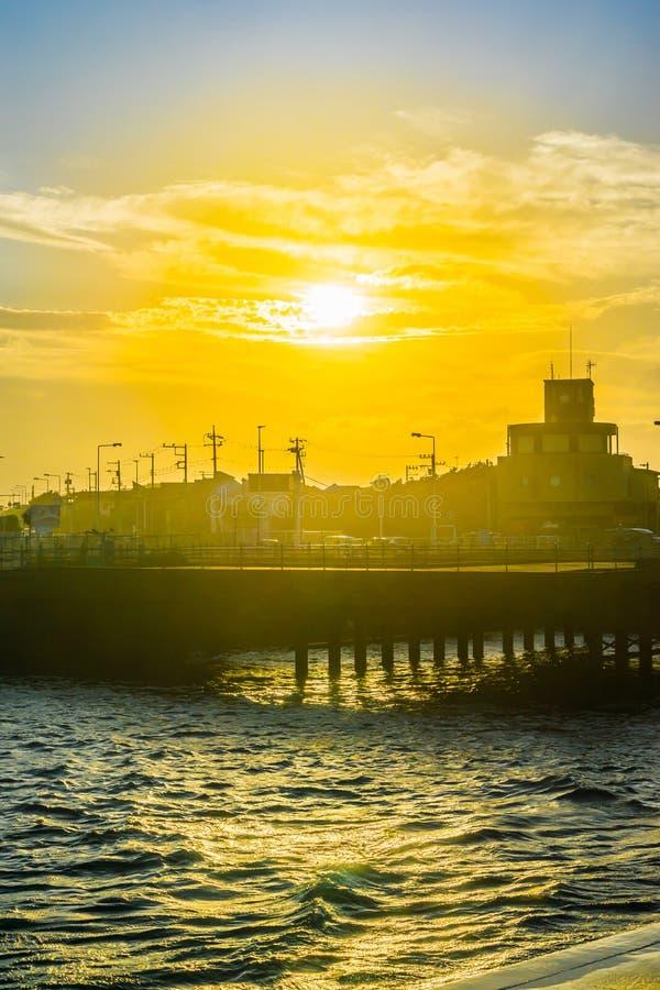 Free Beautiful Sunset And Street View In Kamakura Japan Royalty Free Stock Image - 125783566