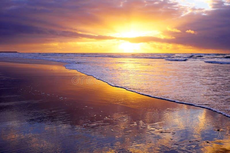 Download Beautiful Sunset At The Atlantic Ocean In Portugal Stock Photo - Image: 36243410