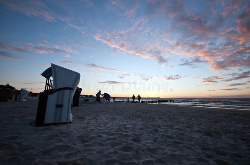 Download Beautiful Sunset At Baltic Beach In Poland Stock Photo - Image: 32762958