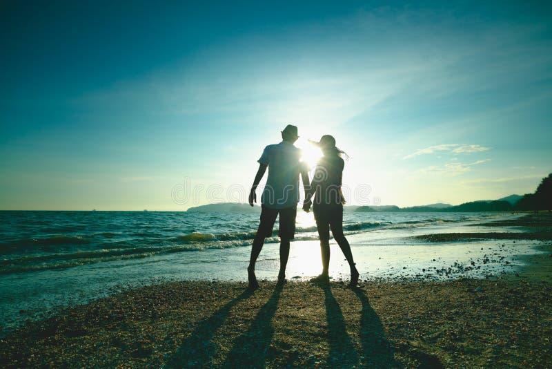 Beautiful sunset on the beach royalty free stock image
