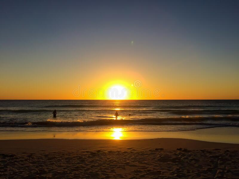 Beautiful sunset on the beach in Western Australia, near city Perth.  royalty free stock images