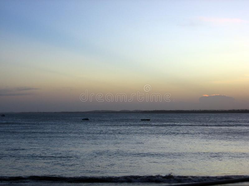 Beautiful sunset on the beaches of Serrambí north Brazil. Southamerica royalty free stock image