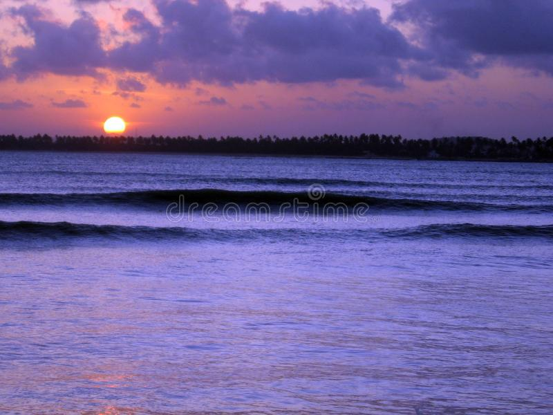 Beautiful sunset on the beaches of Serrambí north Brazil. Beautiful sunset on the beaches of Serrambí north Brazil Southamerica stock image