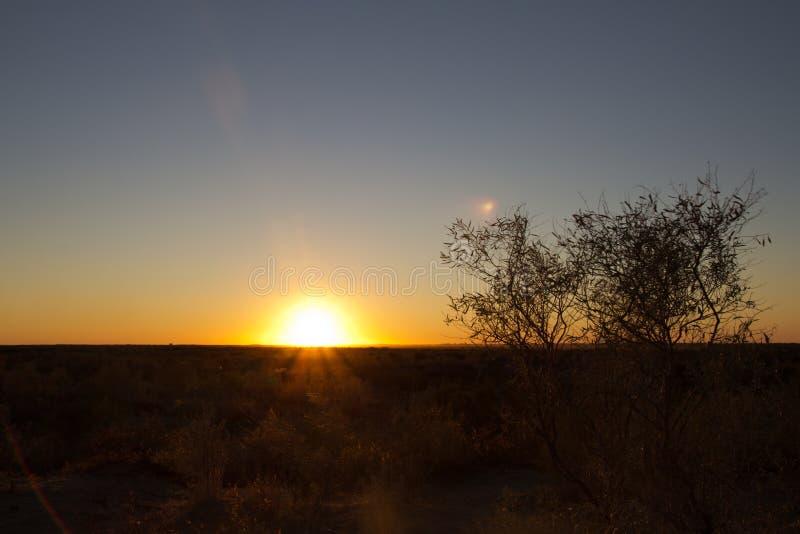 A beautiful sunset stock image