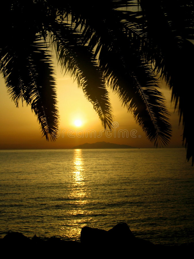 Beautiful sunset from Corse royalty free stock image