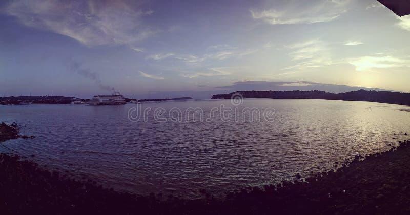 Beautiful sunset evenings goa. Sunset evenings in Goa royalty free stock image