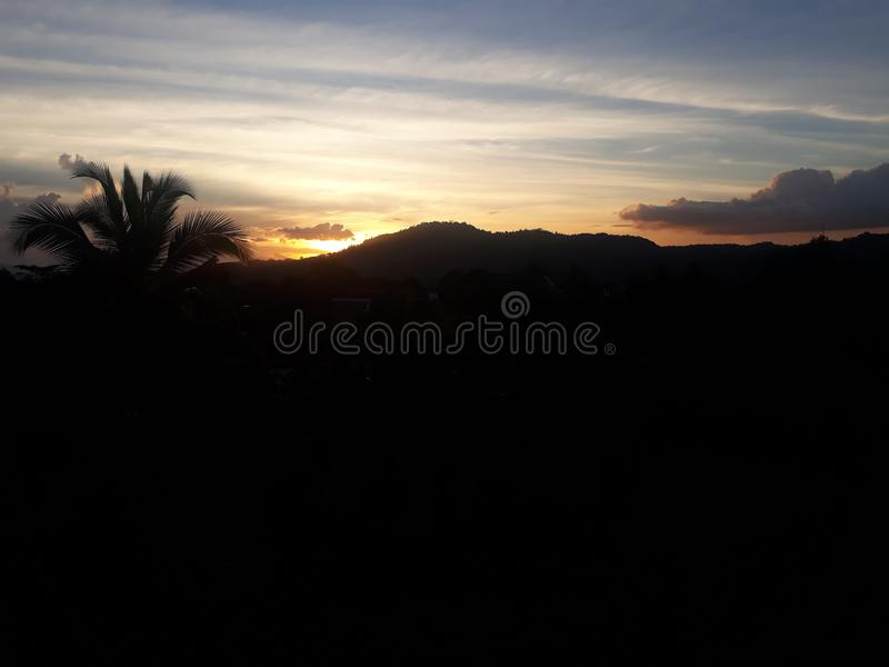 Beautiful sunset in the Hill country stock photography