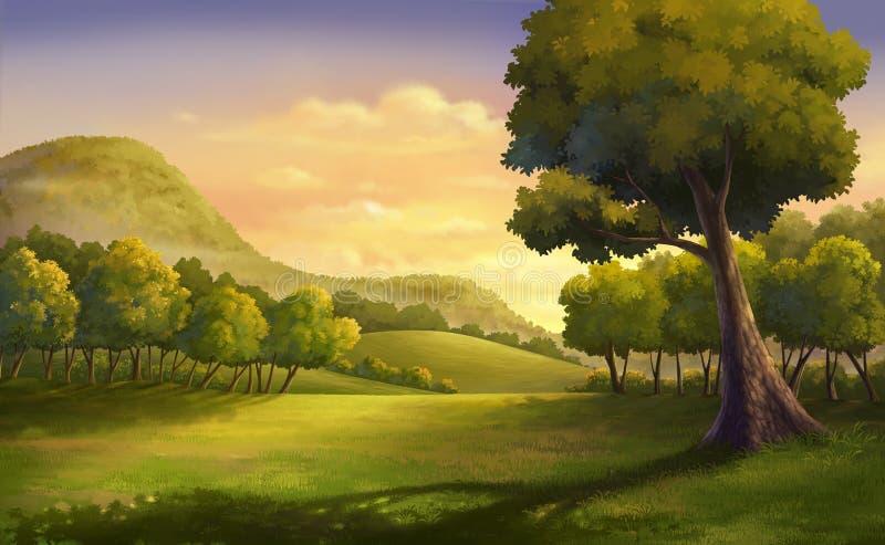 Beautiful sunset royalty free illustration