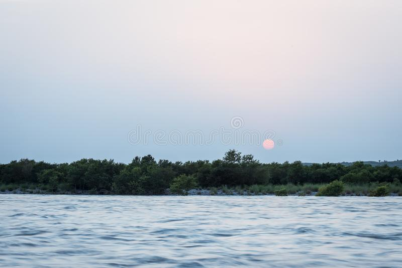 Beautiful Sunset at Indus River also known as Sawat river and si royalty free stock photography