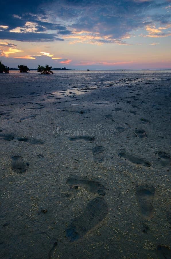 Beautiful sunset at kampung baru nelayan,  tumpat kelantan malaysia. Beautiful sunset kampung baru nelayan tumpat kelantan malaysia stock photos