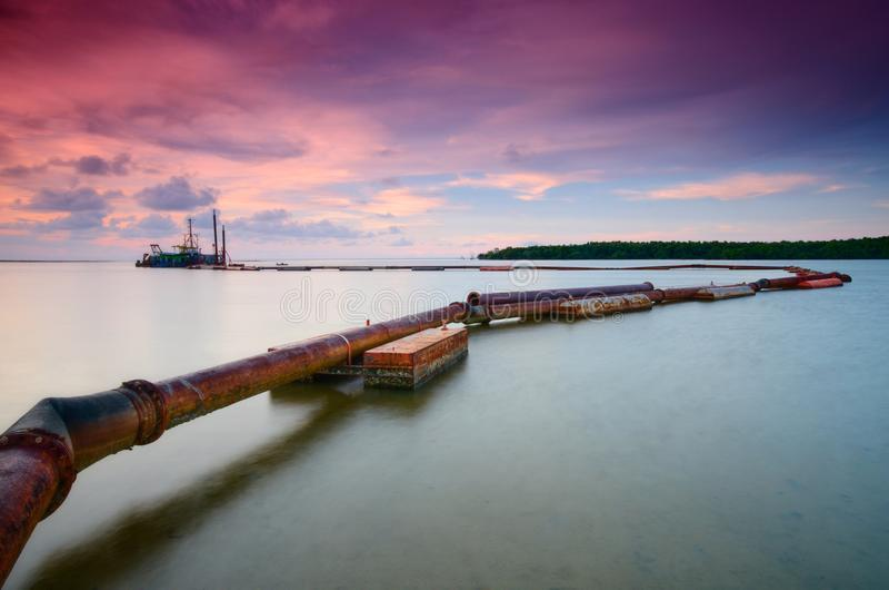 Beautiful Sunset at kampung baru nelayan, tumpat kelantan malaysia. Beautiful sunset kampung baru nelayan tumpat kelantan malaysia royalty free stock images