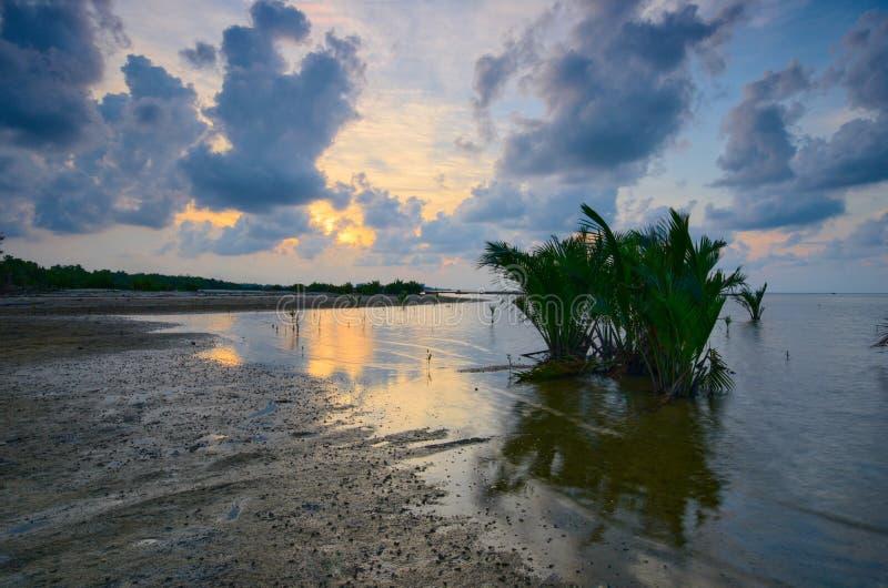 Beautiful Sunset at kampung baru nelayan, tumpat kelantan malaysia. Beautiful sunset kampung baru nelayan tumpat kelantan malaysia stock photography