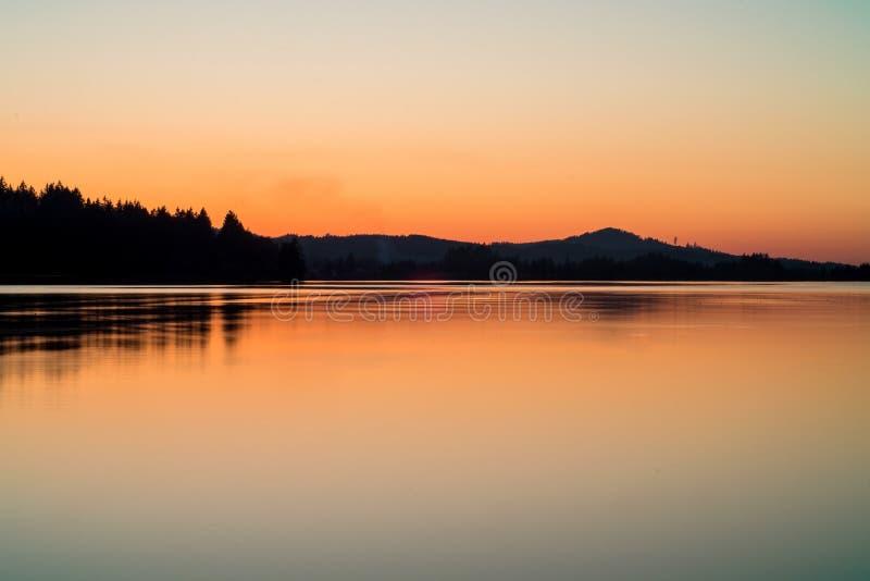 Beautiful Sunset Lake stock images