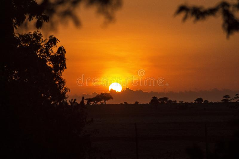 Beautiful sunset landscape for wallpaper royalty free stock images