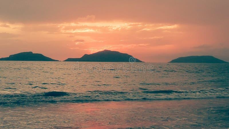 Beautiful sunset in Mazatlán royalty free stock photo